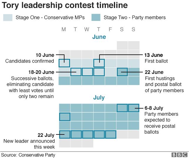 Calendar of the leadership election process