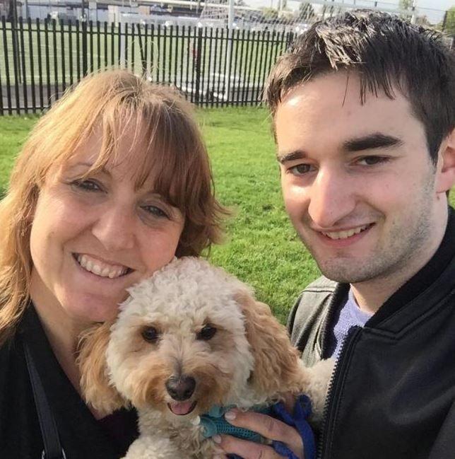 Gillian, Tommy and Gillian's dog