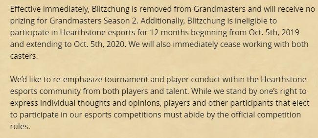 message that banned Blitzchung