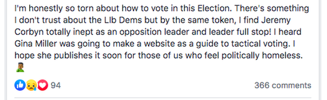 """""""I'm honestly so torn about how to vote in this election."""