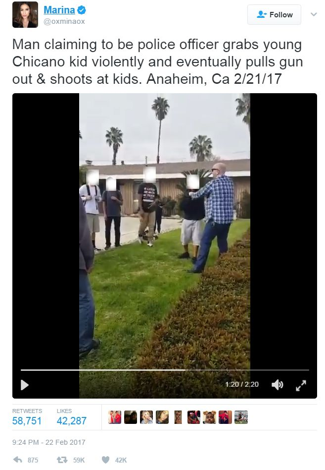Link to video of the incident involving an off-duty