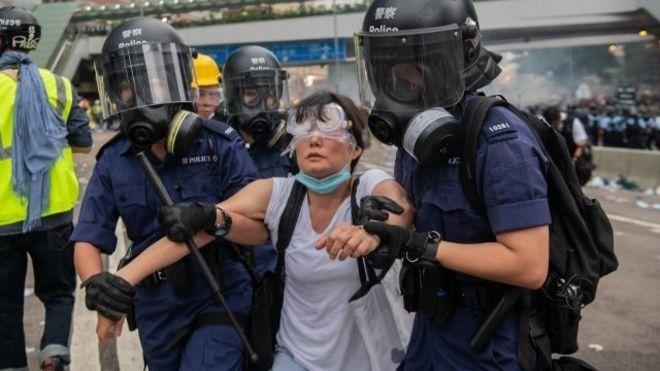 Resultado de imagen para Fotos de las actuales protestas en Hong Kong