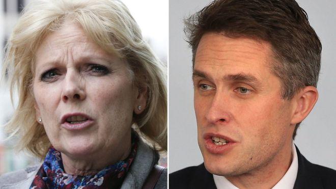 Conservative MP Anna Soubry and Defence Secretary Gavin Williamson