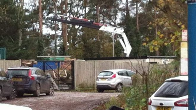 Electrocuted crane driver seen 'shaking' at controls - BBC News