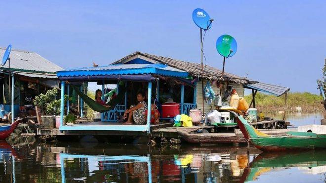 Một gia đình người gốc Việt ở Kampong Chhnang