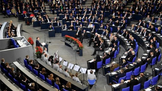 سخنرانی امانوئل مکرون، رئیس جمهور فرانسه در پارلمان آلمان