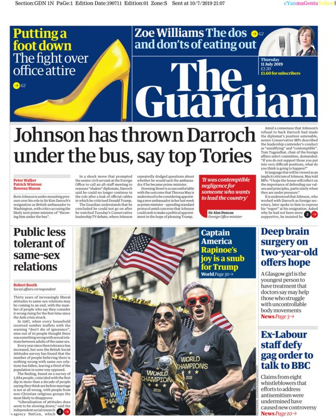 Guardian front page