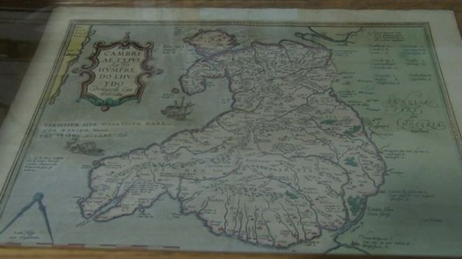 Exhibition for the man who created the first map of Wales - BBC News