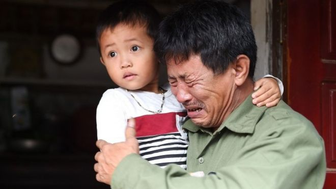 Le Minh Tuan, father of 30-year old Le Van Ha, who is feared to be among the 39 people found dead in a truck in Essex, UK