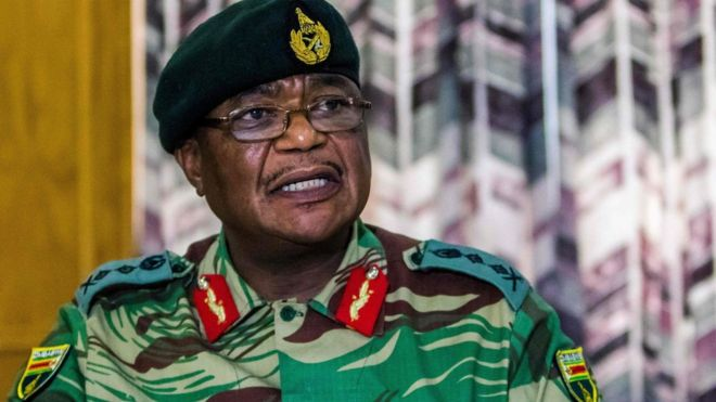 Zimbabwe Army General Constantino Chiwenga spoke in Harare