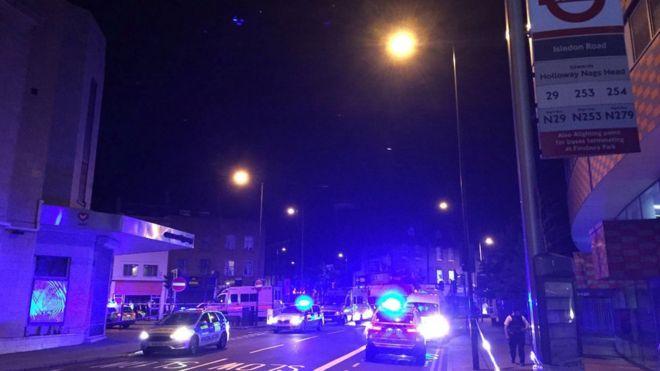 Police near Finsbury Park