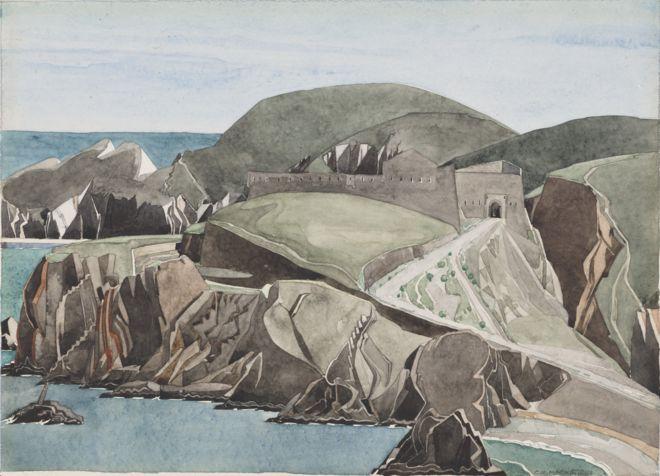 """لوحة """"طريق عبر الصخور"""" لتشارلز ريني ماكنتوش من بين اللوحات التي تم شراؤها بهبة سميث"""