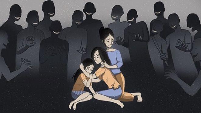 Ilustrasi korban perkosaan masal