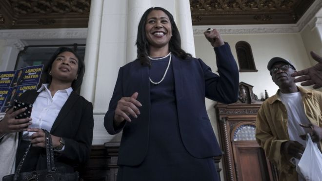 London Breed at city hall