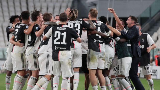 رونالدو يقود يوفنتوس للفوز بلقب الدوري الإيطالي للمرة التاسعة على التوالي