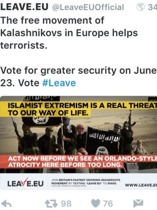 Твиттер Leave.EU