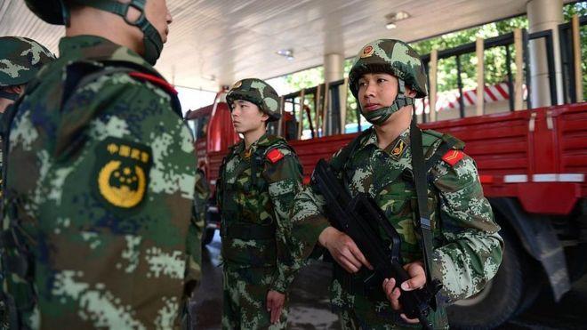 Puesto fronterizo en Xinjiang.