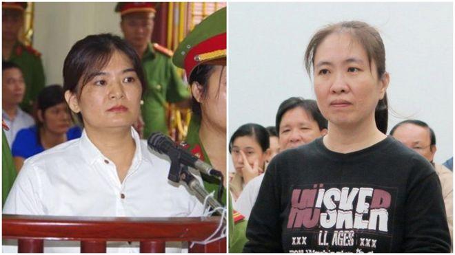 """Năm 2017 của giới xã hội dân sự bị đánh dấu bởi hai bản án đối với bà Trần Thị Nga và bà Nguyễn Ngọc Như Quỳnh """"Mẹ Nấm"""""""