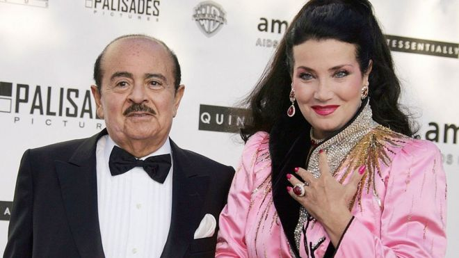 Adnan Khashoggi and his wife Lamia
