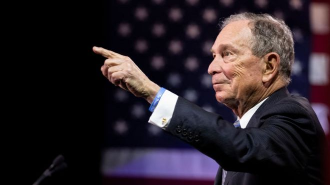 Michael Bloomberg campaigns in Nashville, TN on 12 February 2020