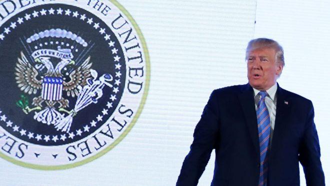 Дональд Трамп, Президент США и двуглавый АрЁлЪ