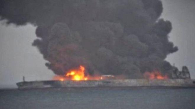 Tàu Sanchi có đội thuyền viên gồm 30 người Iran và hai người Bangladesh
