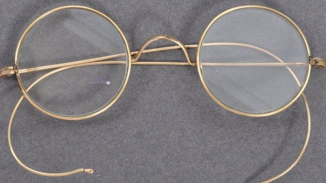The glasses had been worn by Gandhi on a trip to South Africa