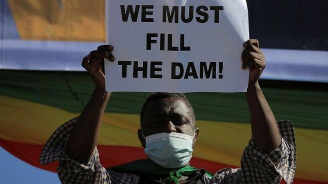 متظاهر في إثيوبيا