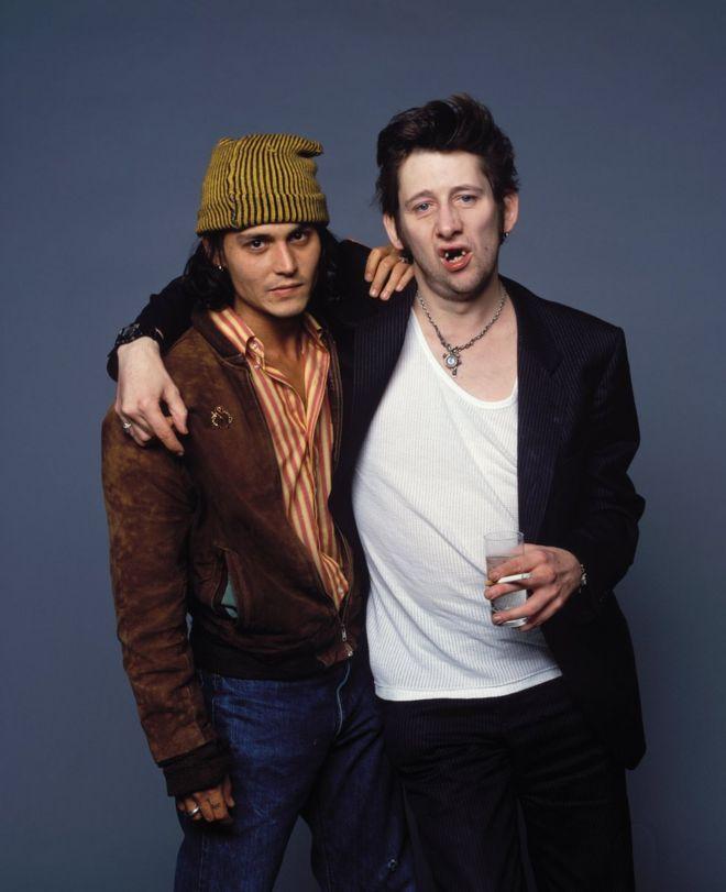 Johnny Depp and Shane MacGowan