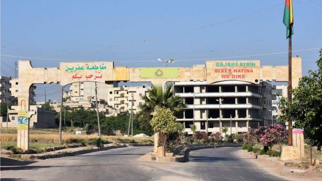 Afrin'in girişi