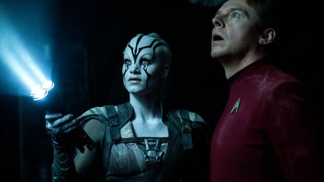 Jaylah and Scotty from Star Trek Beyond