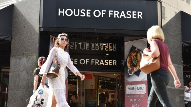 154faf3206 House of Fraser bought by Sports Direct for £90m - BBC News