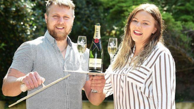 National Lottery winner thanks shopper for queue jump - BBC News