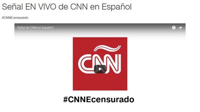 логотип CNN Espanol с хештегом #CNNEcensurado (#CNNEcensored)