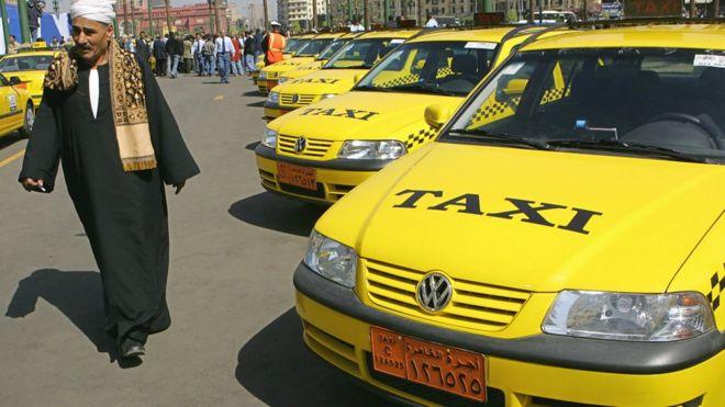Des taxis en stationnement au Caire (illustration).