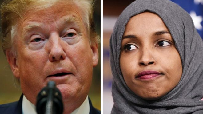 Trump and Ilhan Omar
