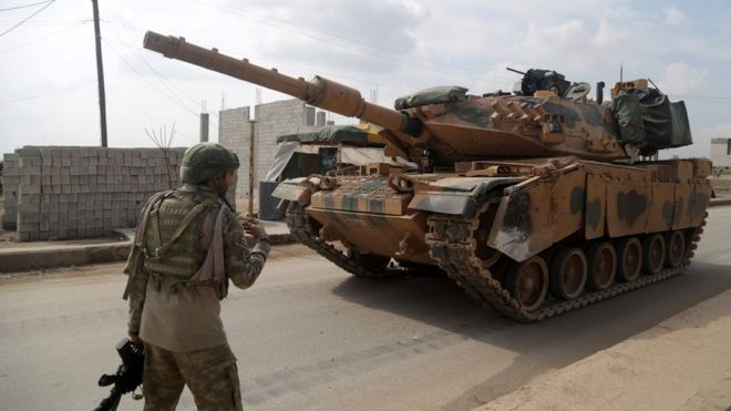 Turkish troops in north-western Syria. File photo