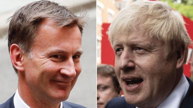 Jeremy Hunt and Boris Johndon