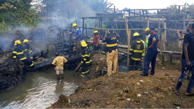 Image result for Lagos Pipeline Fire