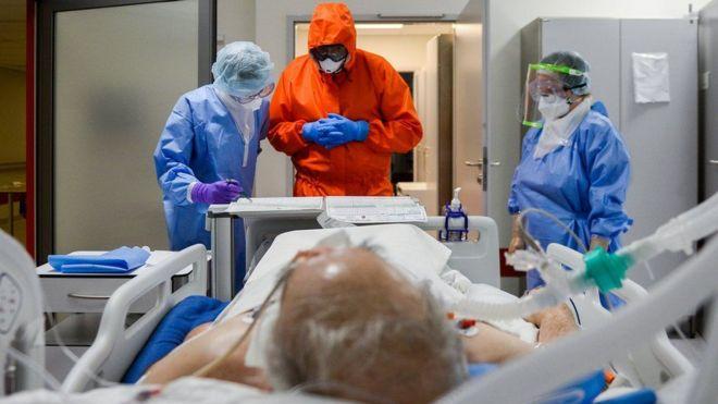 Paciente internado con covid-19