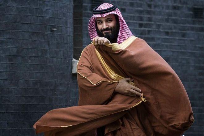 محمد بن سلمان در سفر به بریتانیا