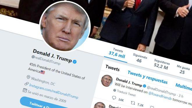 La portada de la cuenta de Donald Trump en Twitter