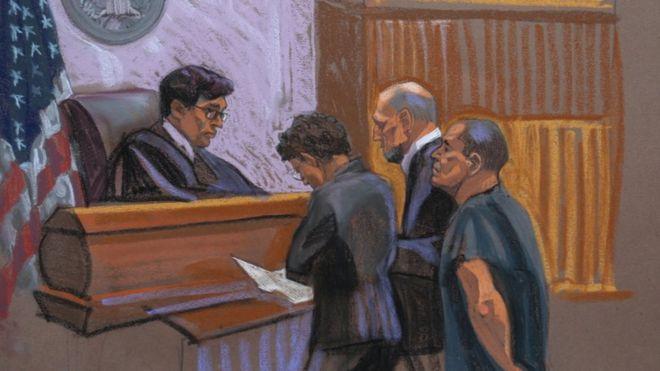 El Chapo Guzman en la corte de Nueva York.