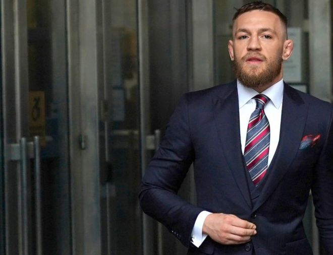 276f96f1d6 UFC star Conor McGregor avoids jail with guilty plea - BBC News