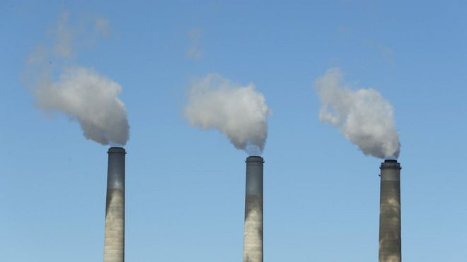 coal fired smoke stacks