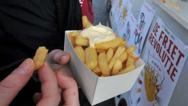 Chips being eaten in Leuven, Belgium, 2011 file pic