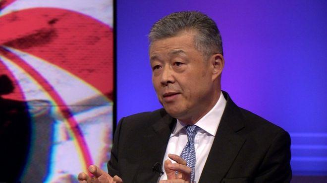 Liu Xiaoming spoke to BBC's Newsnight programme