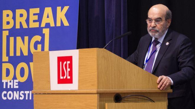 José Graziano durante palestra em Londres em maio de 2018