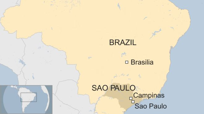 Campinas Brazil Map Brazil gunman kills ex wife, son and 10 others in Campinas   BBC News