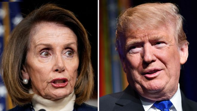 Composite image of Nancy Pelosi and Donald Trump